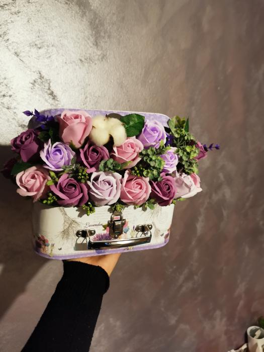 aranjament floral trandafiri sapun [0]