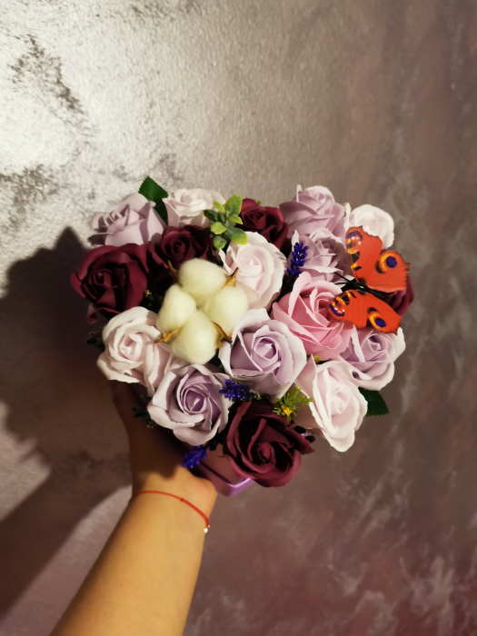 aranjament florar trandafiri sapun [2]