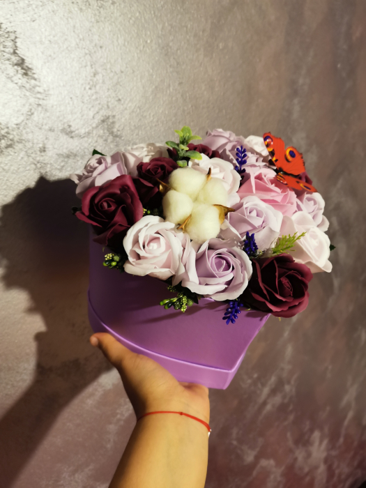 aranjament florar trandafiri sapun [4]