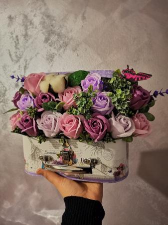 aranjament floral trandafiri sapun [2]