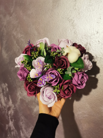 aranjament florar trandafiri sapun [6]