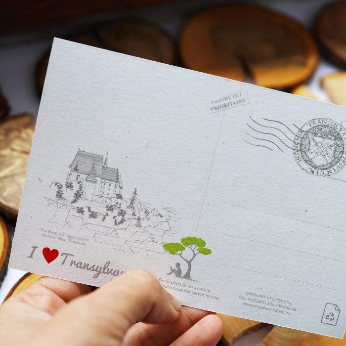 Carte postala Biertan, Sibiu, suvenir Transilvania [5]