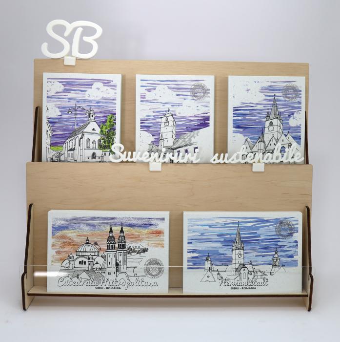 Carte postala Biertan, Sibiu, suvenir Transilvania [7]
