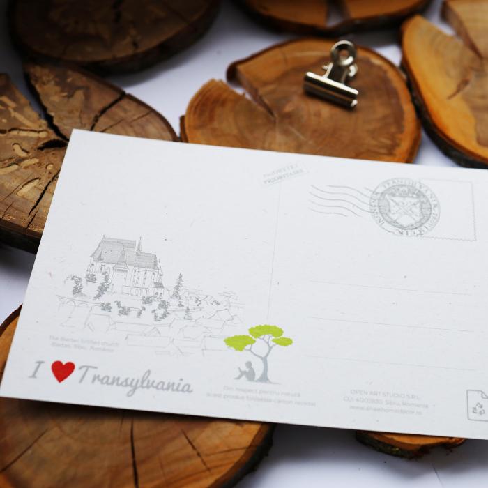 Carte postala Biertan, Sibiu, suvenir Transilvania [4]
