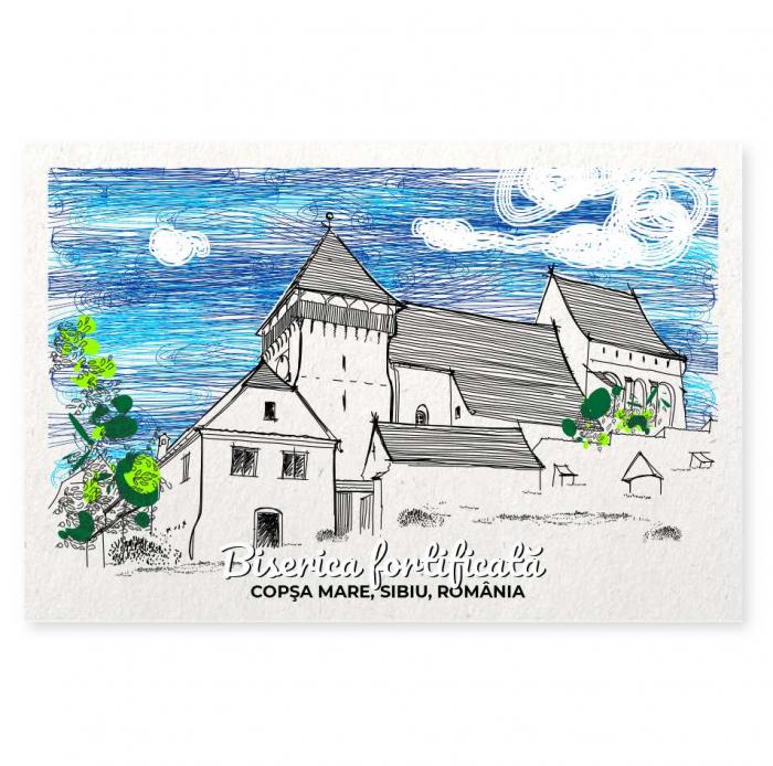 Carte postala Copsa Mare, Sibiu, suvenir Transilvania [0]