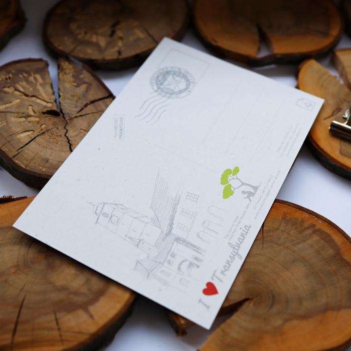 Carte postala model Turnul Sfatului, suvenir Sibiu [4]