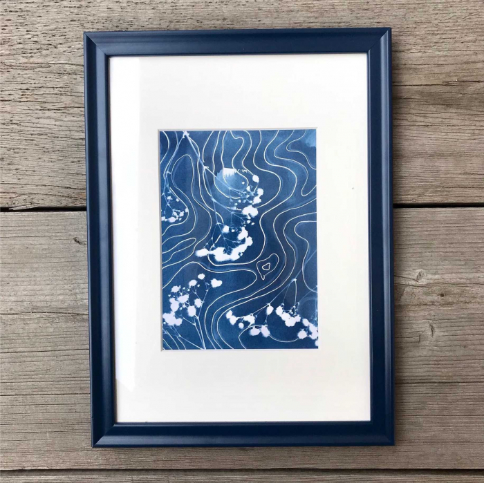 Cyanotype art, Top view of the soul [3]