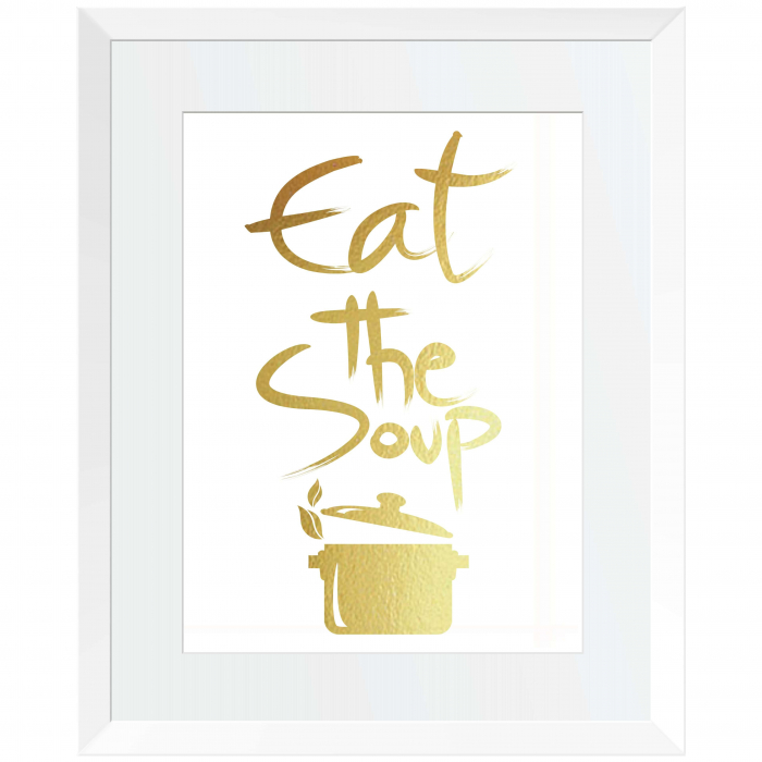 Eat the soup, colaj metalic auriu 1