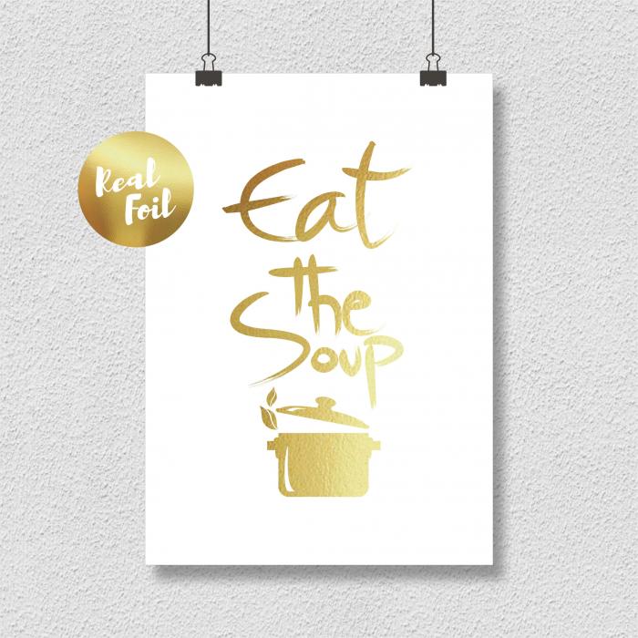 Eat the soup, colaj metalic auriu [0]