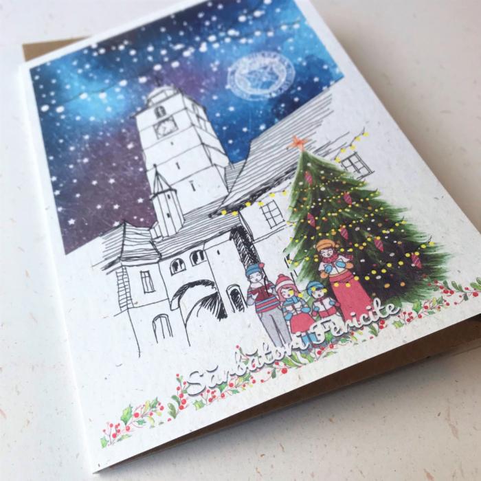 Felicitare de Craciun, Brasov, Biserica Neagra [1]
