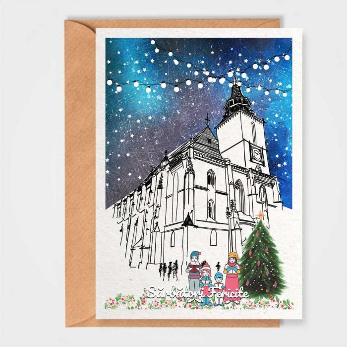 Felicitare de Craciun, Brasov, Biserica Neagra [0]