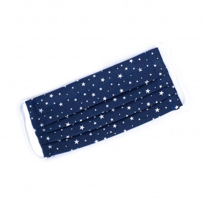 Masca reutilizabila, Albastru cu stele albe 0