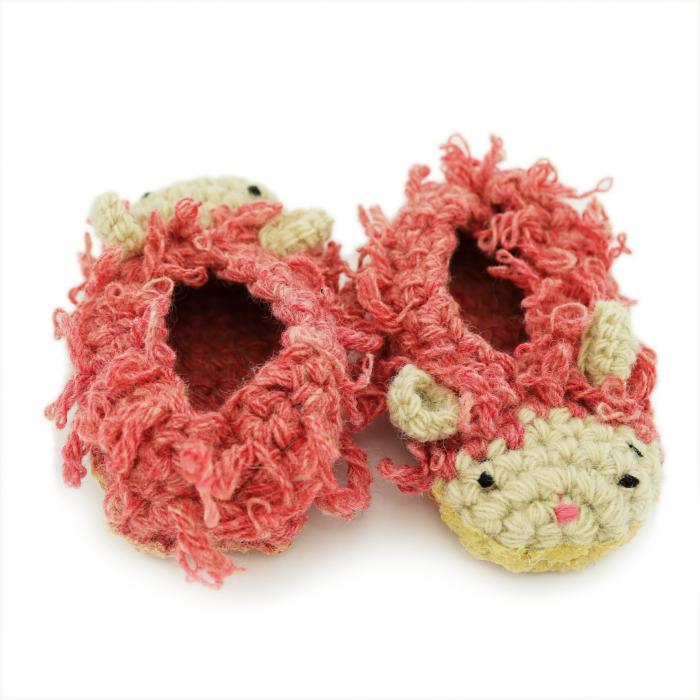 Papucei Oite, 100% lana romanesca 4