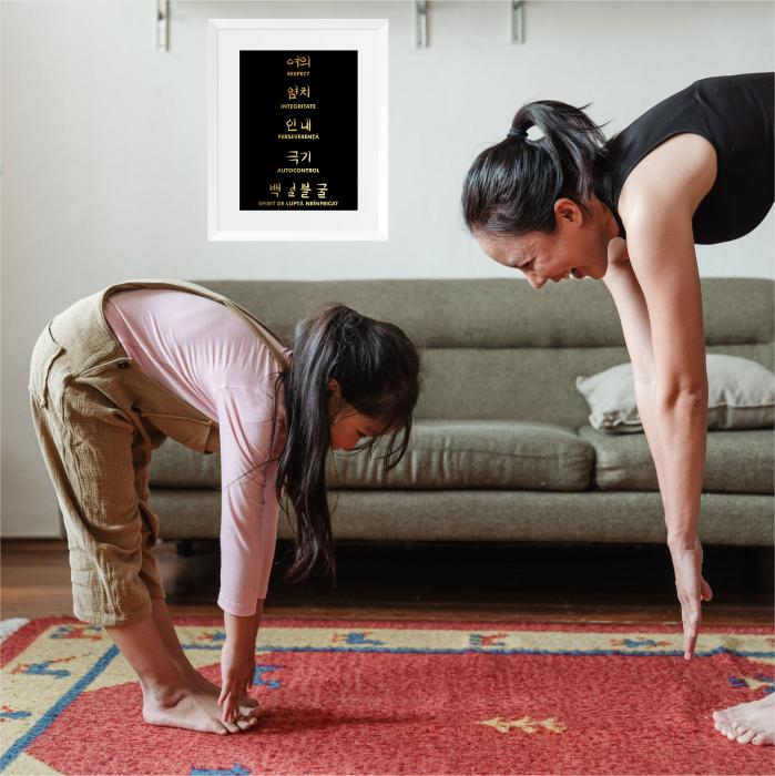 Tablou Principii Taekwondo, arte martiale, auriu stralucitor [0]