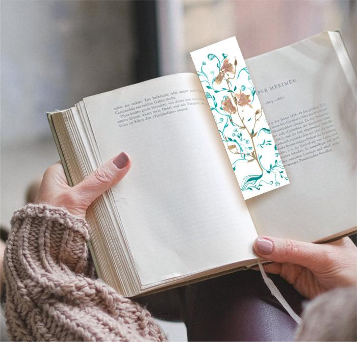 Floarea copac, semn de carte 1
