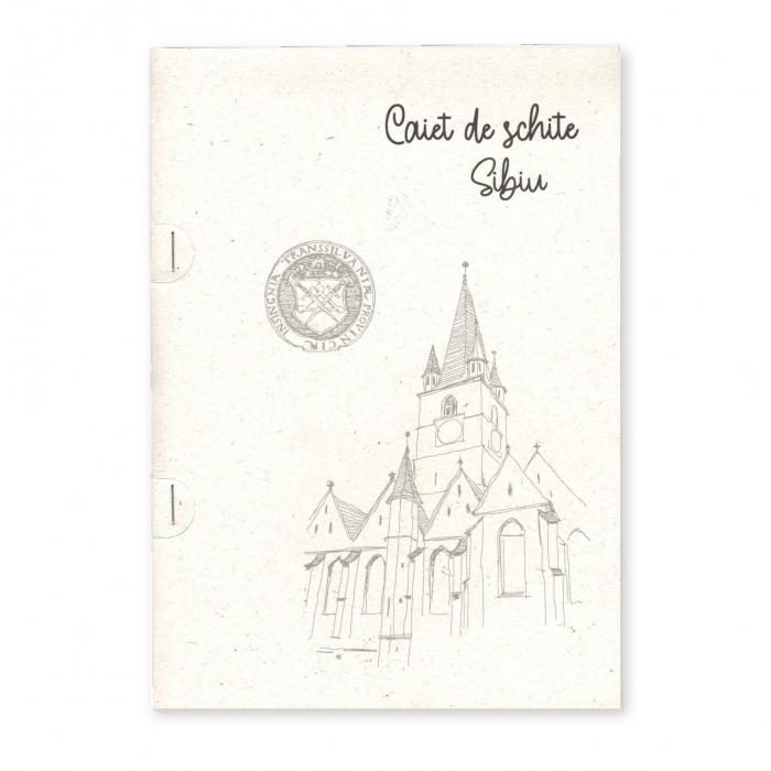 Stand cu 4 seturi de carti postale si 1 set caiet de schite, Sibiu 6