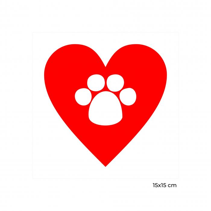 Sticker auto Animal Love, 15x15cm x 2 foi, rezistent la uzura 1