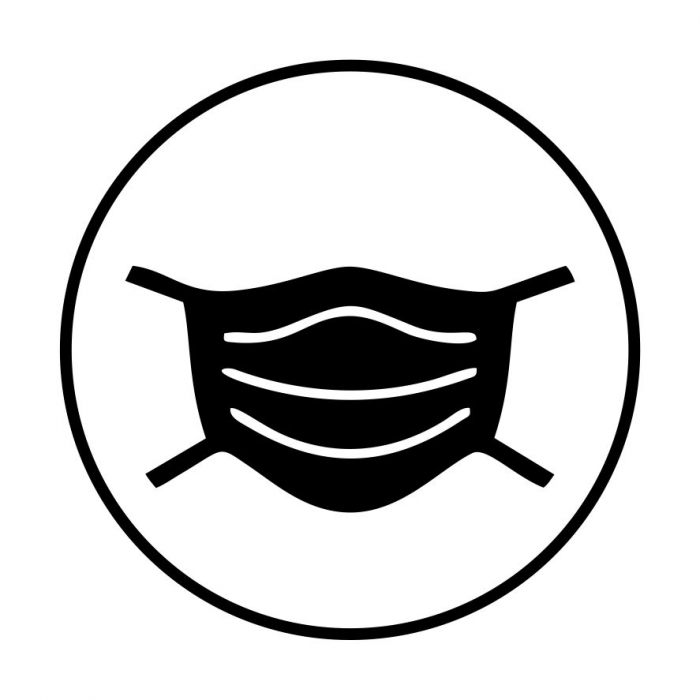 Sticker informativ Poarta Masca, 15x15cm [0]