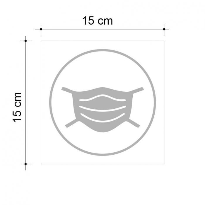 Sticker informativ Poarta Masca, 15x15cm [2]
