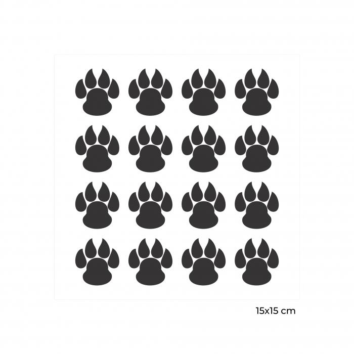 Sticker auto Dog Love, 15x15cm x 2 foi, rezistent la uzura [2]