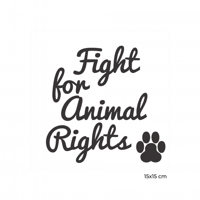 Sticker Auto Animal Rights, 15x15cm x 2 foi, rezistent la uzura 2