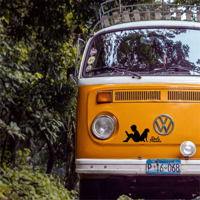 Sticker Auto Best Friends, 15x15cm x 2 foi, rezistent la uzura [4]