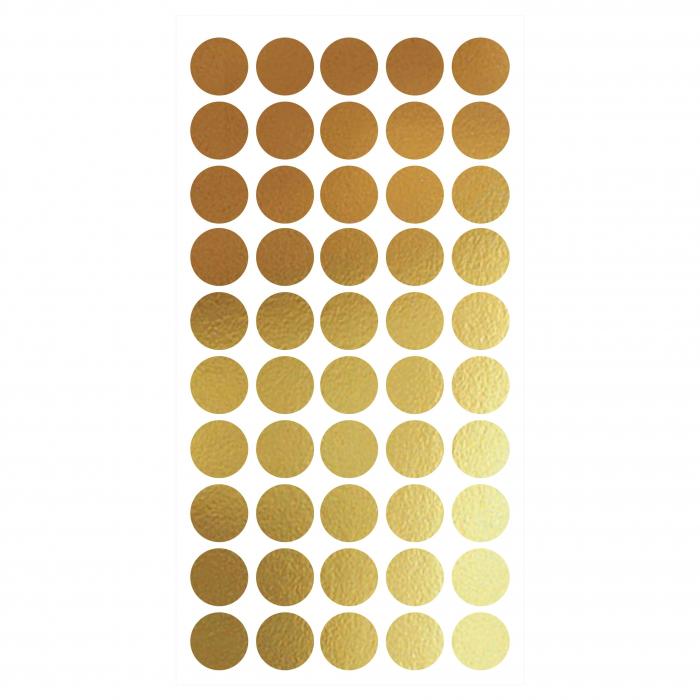 Sticker decorativ decupat, Buline aurii, marca Anais - Beautiful inside, pentru interior, 50 bucati/set 0