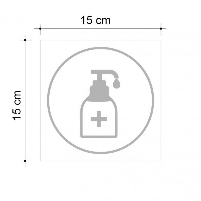 Sticker informativ Dezinfectant, 15x15cm [2]