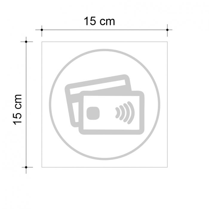 Sticker informativ Plata cu cardul, 15x15cm 2