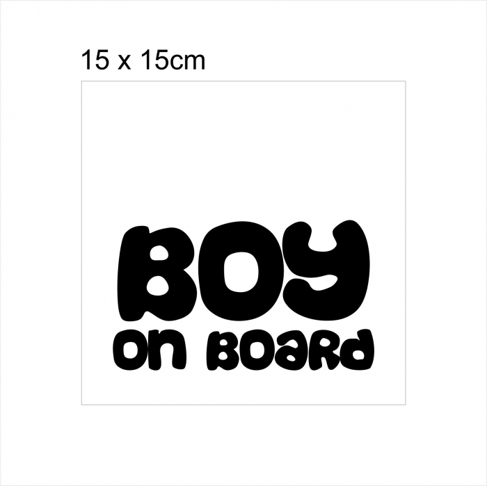 Stickere Boy on board 15x15cm x 2 foi, rezistent la uzura 2