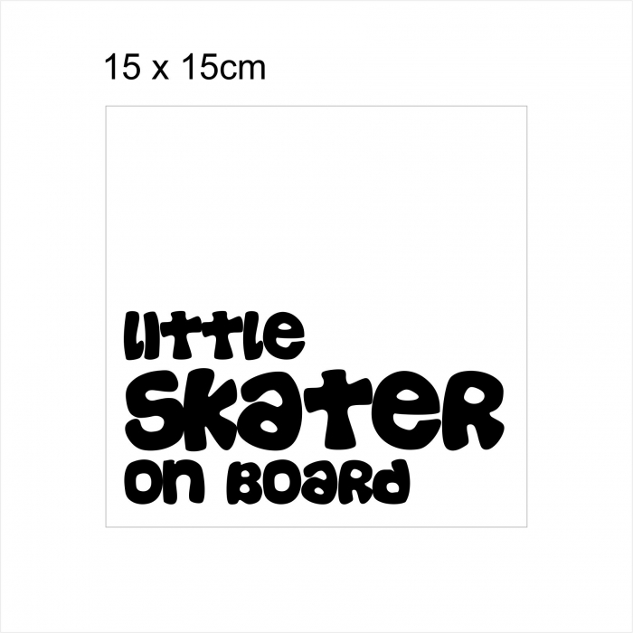 Stickere Little SKATER on board, 15x15cm x 2 foi, rezistent la uzura 2