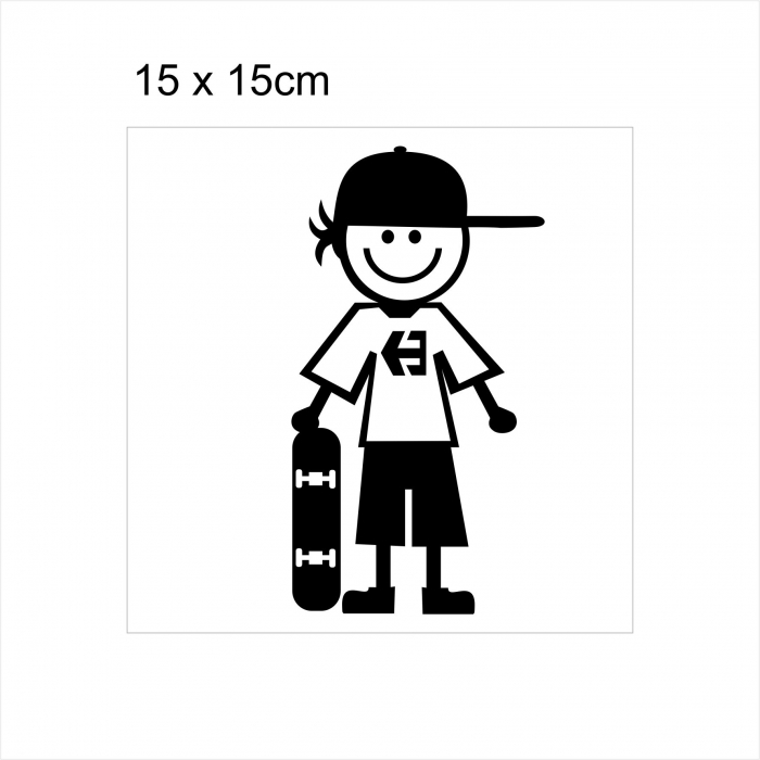 Stickere Little SKATER on board, 15x15cm x 2 foi, rezistent la uzura 1
