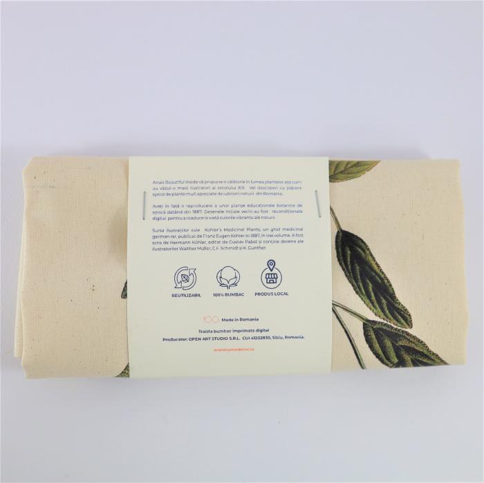 Sacosa bumbac ecologica Salvia 5