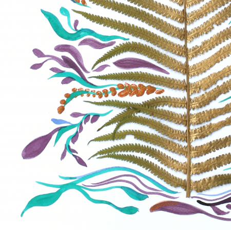 Poster Frunza fantezie, 30x40cm, carton texturat2