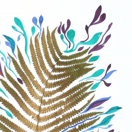 Poster Frunza fantezie, 30x40cm, carton texturat3