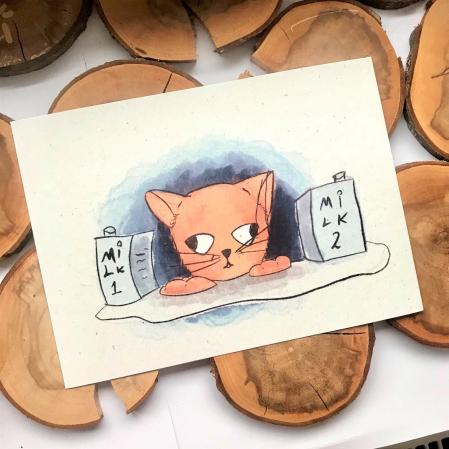 Art card, Pisica [2]