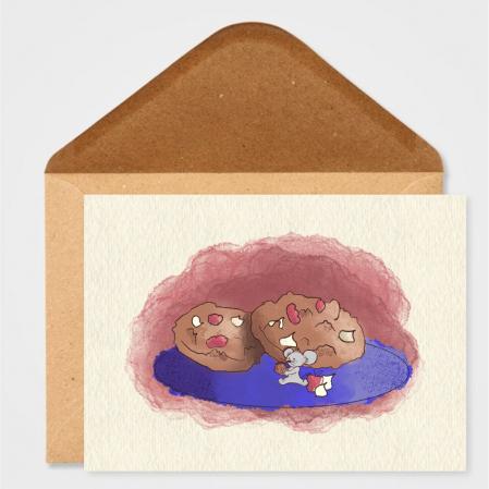 Art card, Soricel cu biscuiti [2]