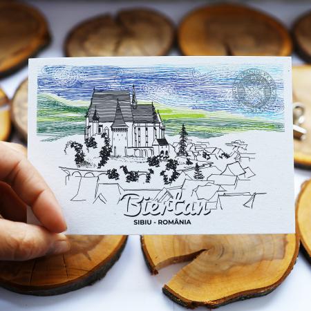 Carte postala Biertan, Sibiu, suvenir Transilvania [6]