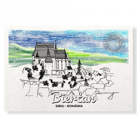Carte postala Biertan, Sibiu, suvenir Transilvania [0]