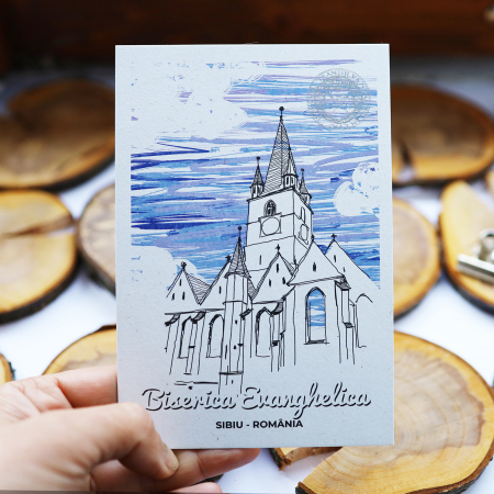 Carte postala, Biserica Evanghelica, Sibiu5