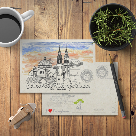 Carte postala, Catedrala Mitropolitana, Sibiu2
