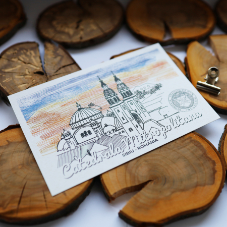 Carte postala, Catedrala Mitropolitana, Sibiu3