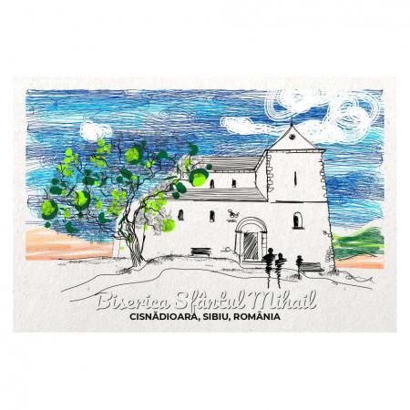 Carte postala Cisnadiaora, Sibiu, suvenir Transilvania [0]