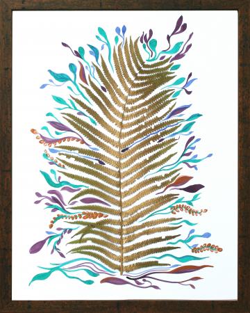 Poster Frunza fantezie, 30x40cm, carton texturat4