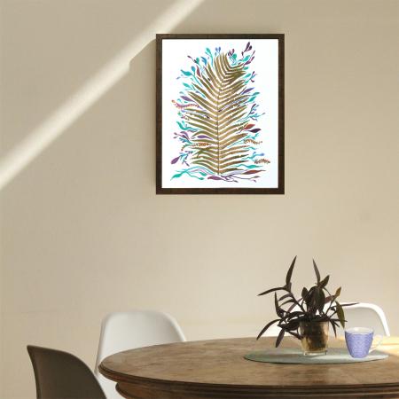 Poster Frunza fantezie, 30x40cm, carton texturat5