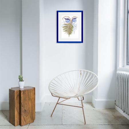 Feriga Barba - ilustratie in tehnica mixta, plante presate, tus si vopsea acrilica1