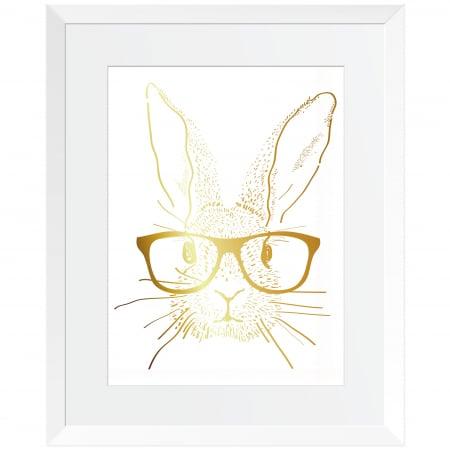 Rabbit went home, set 3 tablouri, colaj metalic auriu, 3 piese  24x30cm/buc3