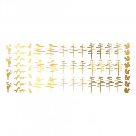 Paduri, sticker decorativ decupat, auriu mat, pentru interior2