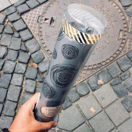 Poster Je t'aime Paris, 21x30cm, colaj metalic auriu [6]