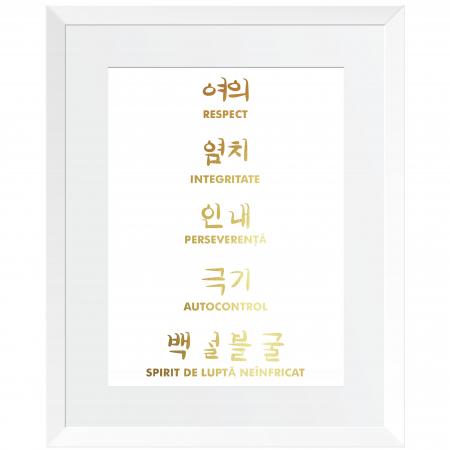 Tablou Principii Taekwondo, arte martiale, auriu stralucitor [4]